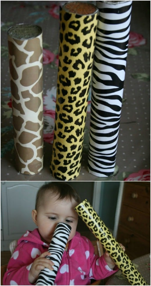 DIY Baby Sized Rain Sticks