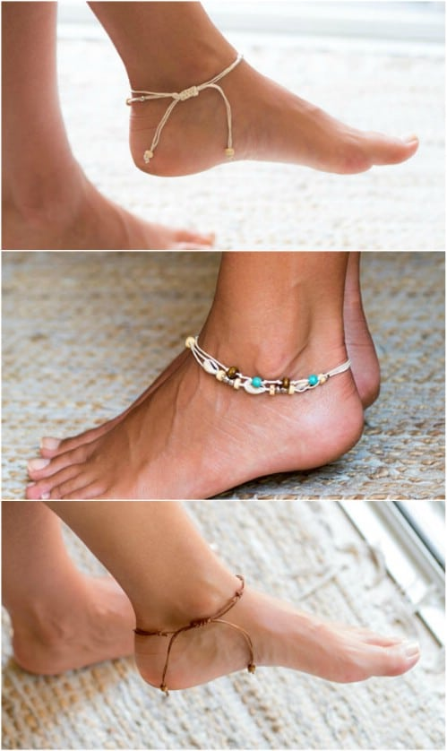 Shell And Bead Beach Anklet
