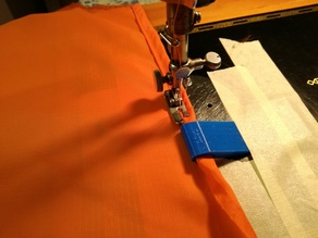 Folded Hem Attachment for Sewing Machines