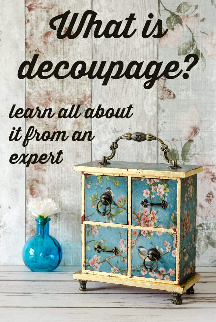"Are you wondering what it means to ""decoupage?"" I run a Mod Podge blog and I"