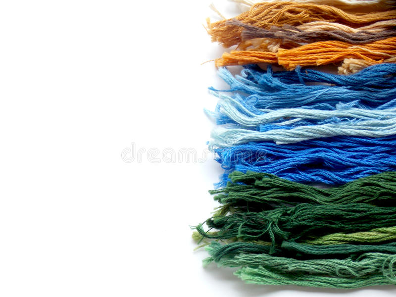 Color of thread for embroidery work. Background royalty free stock images
