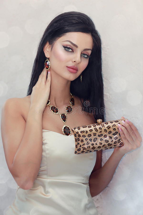Crystal handbag royalty free stock photography