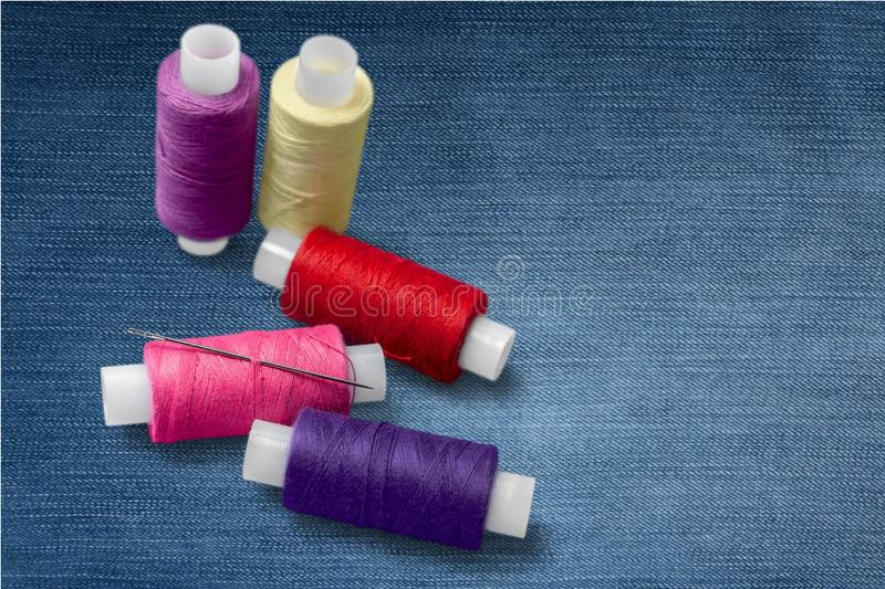Embroidery. Thread sewing needle spool sewing item knitting stock image