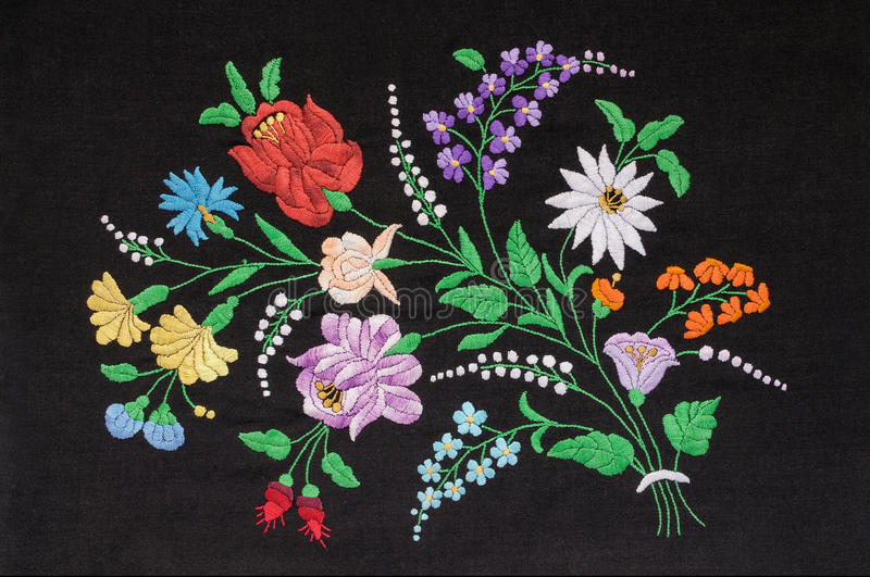 Hungarian embroidery. Background with floral pattern royalty free stock image