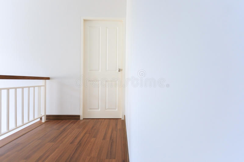 Inside white modern residential house. Empty space room in white modern residential house royalty free stock images