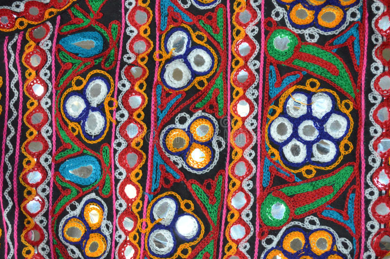 Kutchi Embroidery work. The best known of the Kutch embroidery techniques is Aribharat, named after the hooked needle which forms the chain stitch. It is also stock images