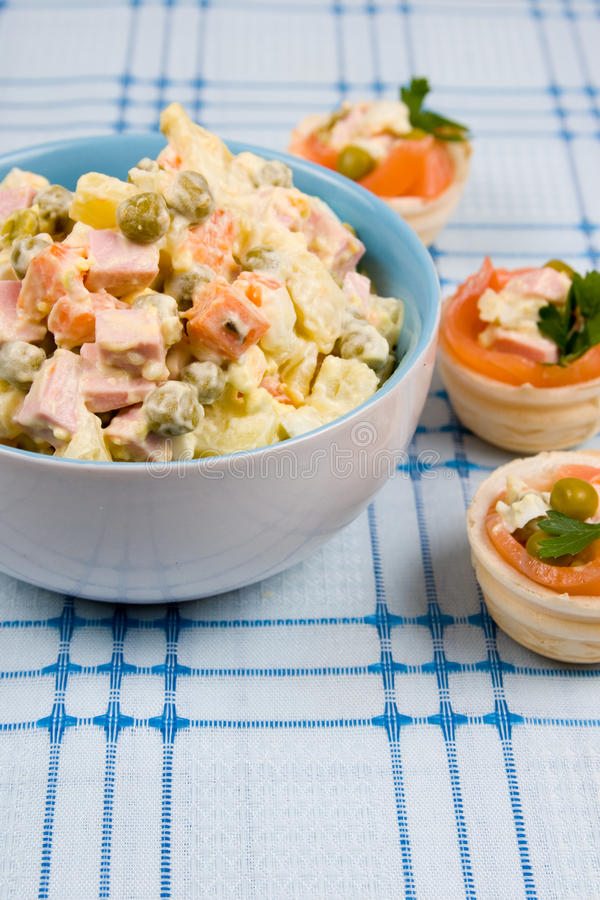 Russian traditional salad royalty free stock photo