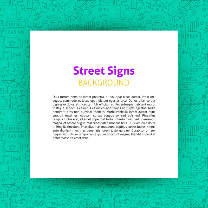 Street Signs Paper Template stock illustration