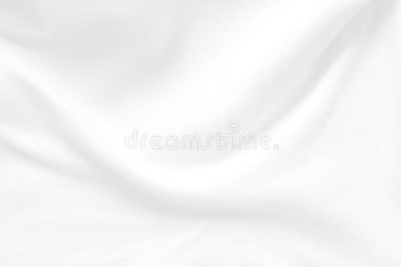 White cloth background abstract. Fabric is wrinkled and sofe wave. Material are used in textile stock photos