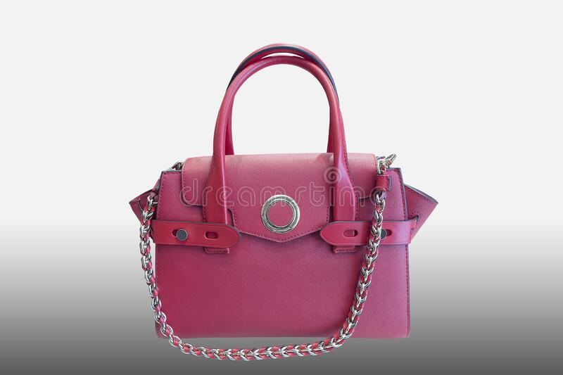 Woman`s leather handbag royalty free stock image