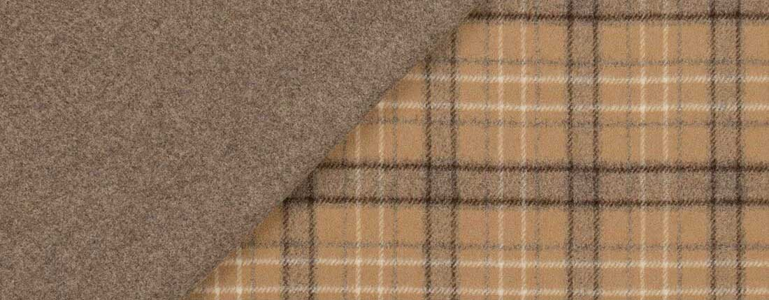 double faced wool flannel fabric