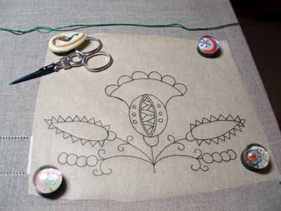 How to Transfer Embroidery Designs: Tissue Paper Transfer