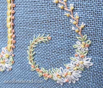 Floral Alphabet Embroidery